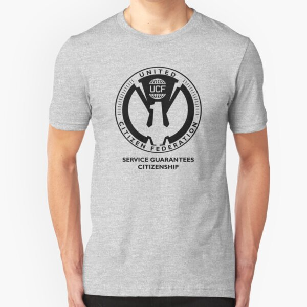 Starship Troopers - United Citizen Federation Slim Fit T-Shirt