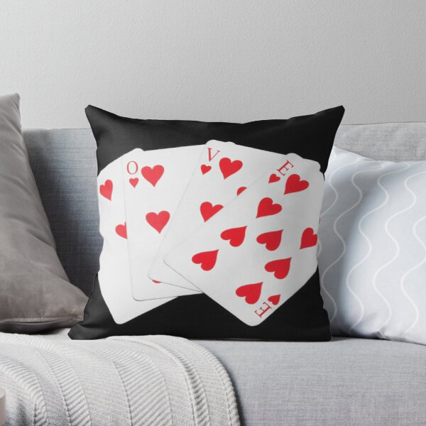 Gamble Everything For Love Throw Pillow