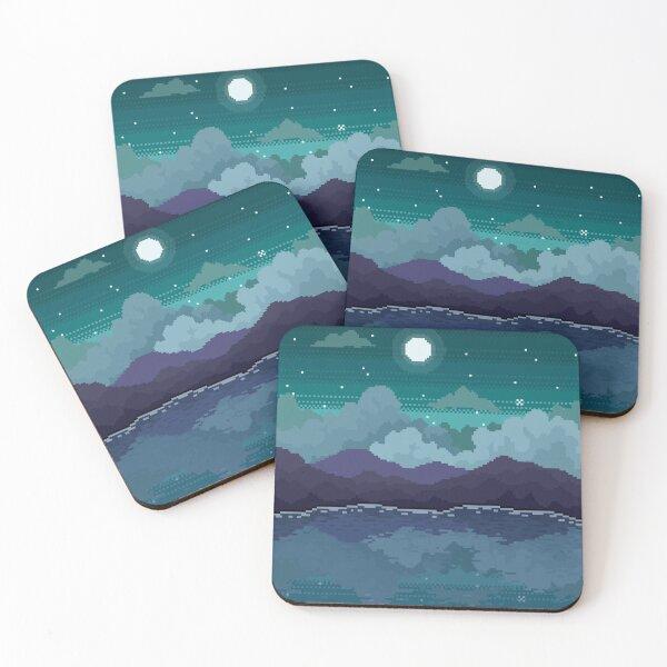 Mountain Lake Coasters (Set of 4)