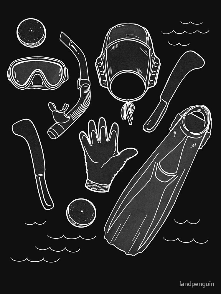Underwater Hockey Octopush T Shirt by landpenguin