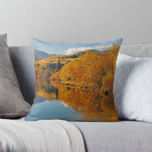 Autumnal Lake Hayes Throw Pillow