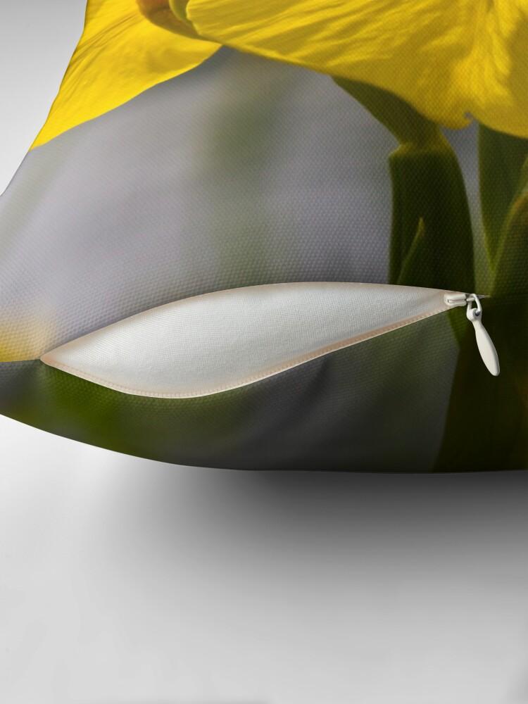 Alternate view of Yellow Iris (Iris pseudacorus) Throw Pillow