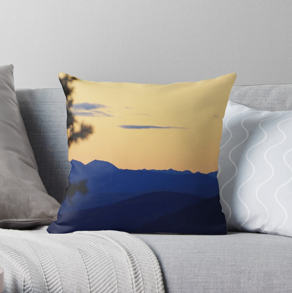 Many Shades Of Blue Throw Pillow