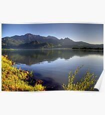 Lake at High Level Poster