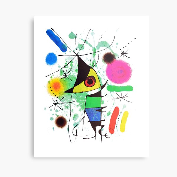 Joan Miró The Singer or The Singing Fish Artwork For Prints Posters Tshirts Bags Women Men Kids Canvas Print