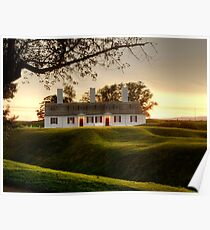 Sunset at Fort Anne Poster