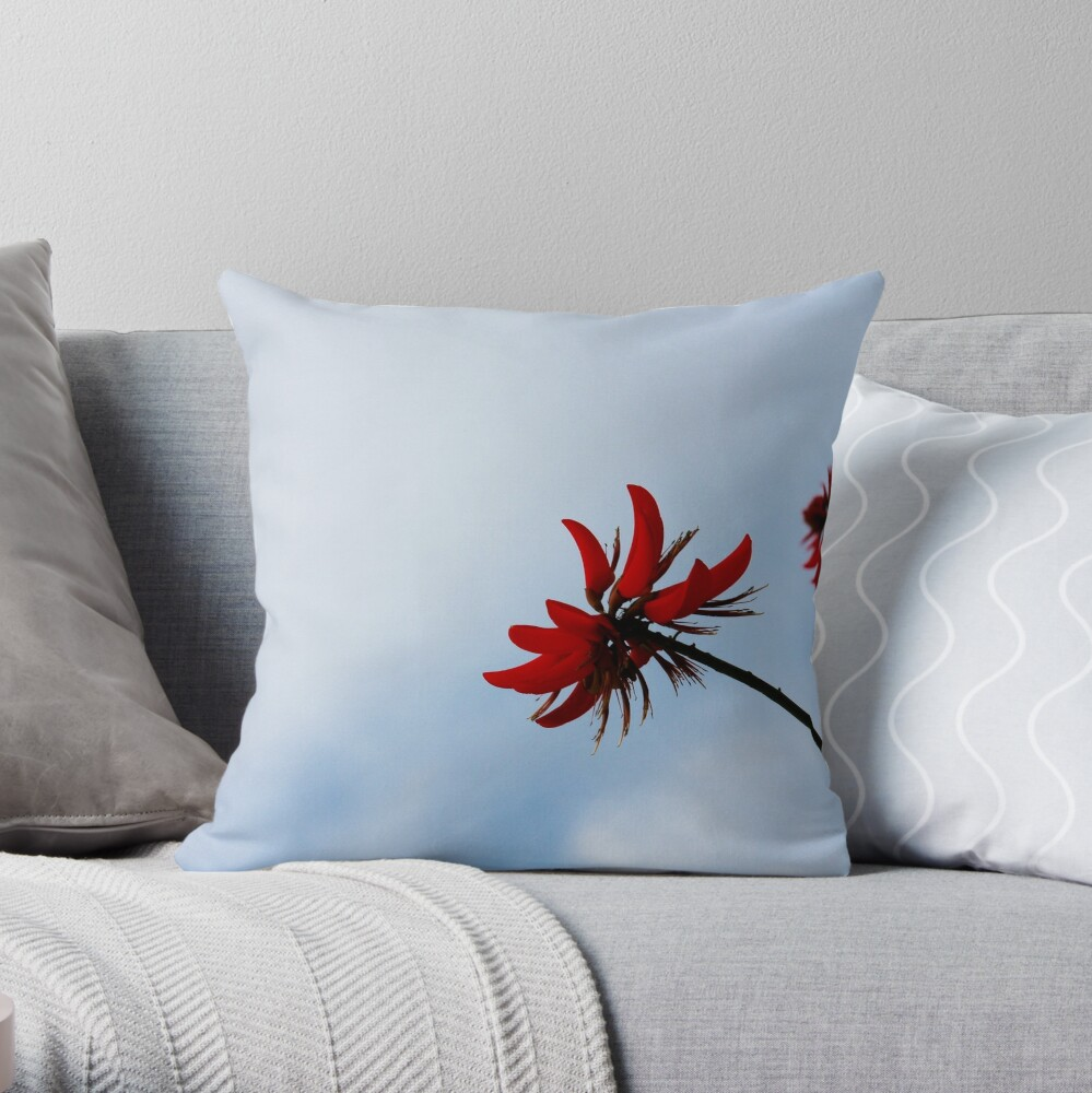 Red like fire Throw Pillow