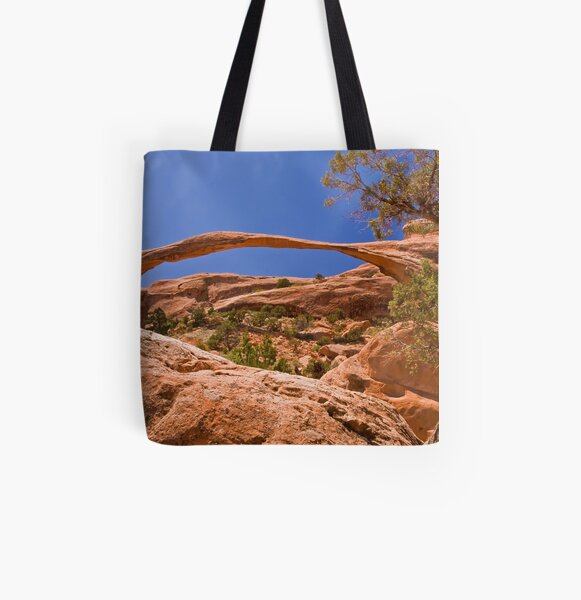 Landscape Arch at high noon All Over Print Tote Bag