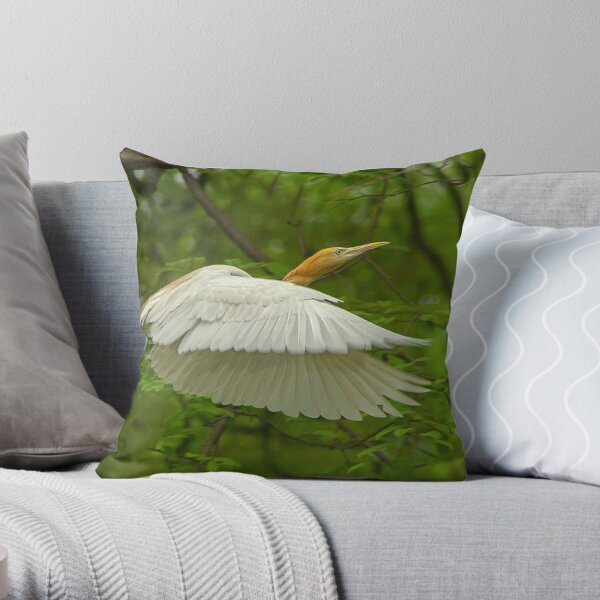 A day with Egrets #1 Throw Pillow