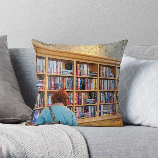 Library at Atlantis Throw Pillow