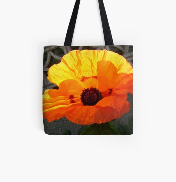 Brand-new poppy All Over Print Tote Bag
