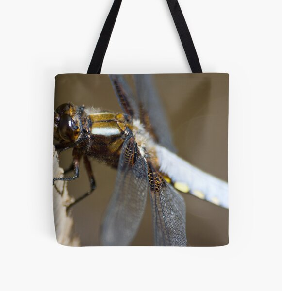 Broad-bodied Chaser (Libellula depressa) All Over Print Tote Bag