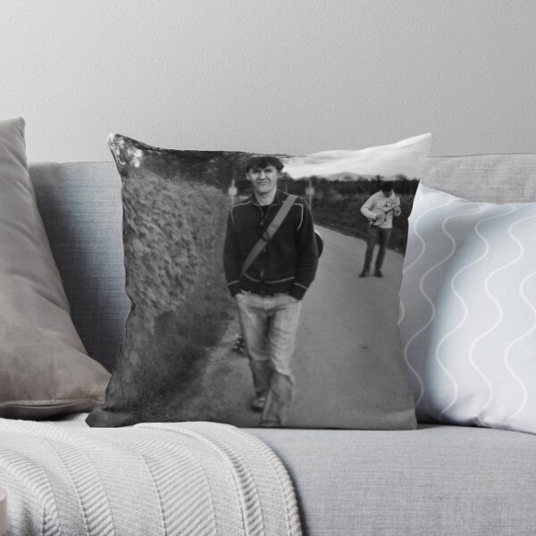 Martin & Mossy Dawg on the Road to the Pub Throw Pillow