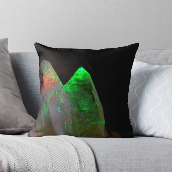 CRYSTALS & LASERS Throw Pillow