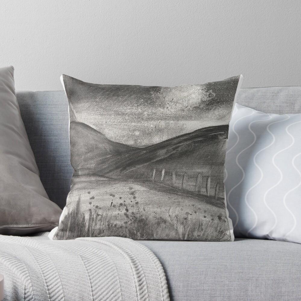 Graphite 1 Throw Pillow