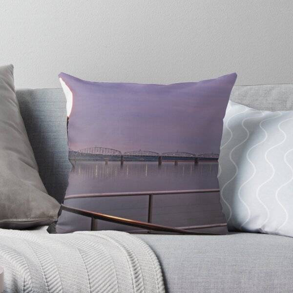 Missouri River at Chamberlain Throw Pillow