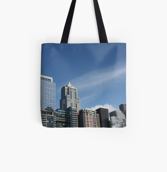 Seattle Skyline All Over Print Tote Bag
