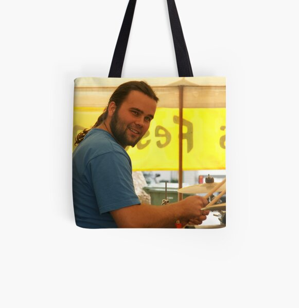 Drummer Looks All Over Print Tote Bag
