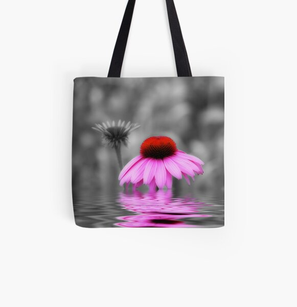 Pink All Over Print Tote Bag