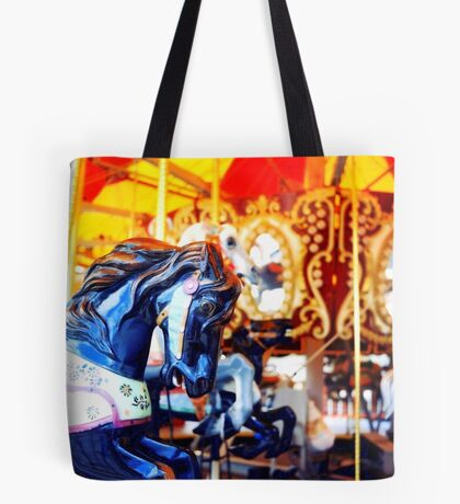 Coney Island Carousel Tote Bag