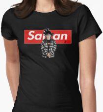 Sangoku x Saiyan Dragon Ball Z Women's Fitted T-Shirt
