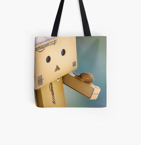 when Danbo meet Gary All Over Print Tote Bag