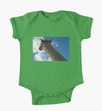 The Grandeur of Pompeii - a Corinthian Capital Column in the Sky One Piece - Short Sleeve