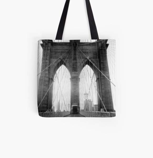 Brooklyn Bridge All Over Print Tote Bag