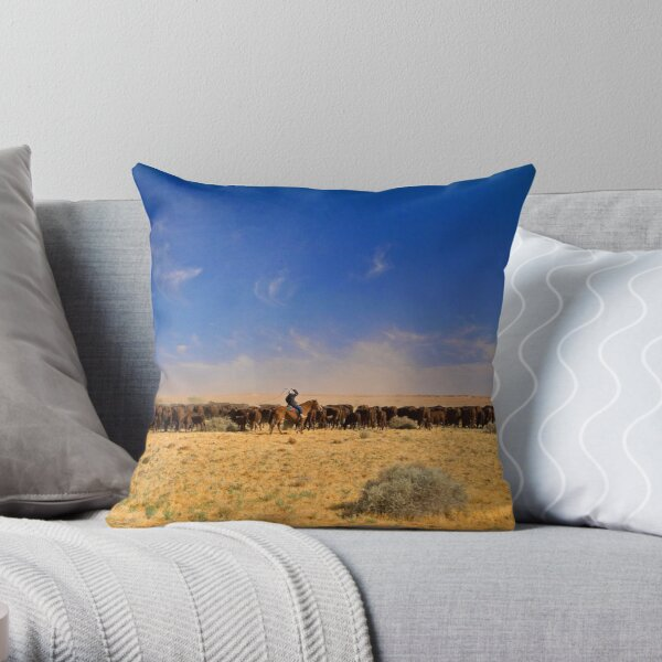 William Creek Muster Throw Pillow