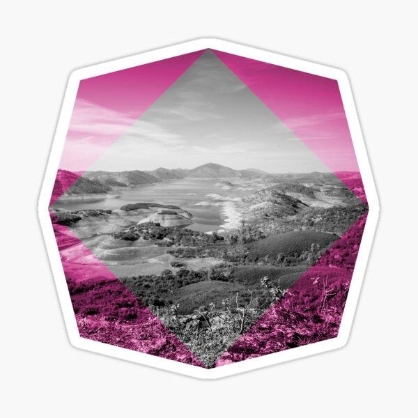 Geometric View - Pink Hike Sticker