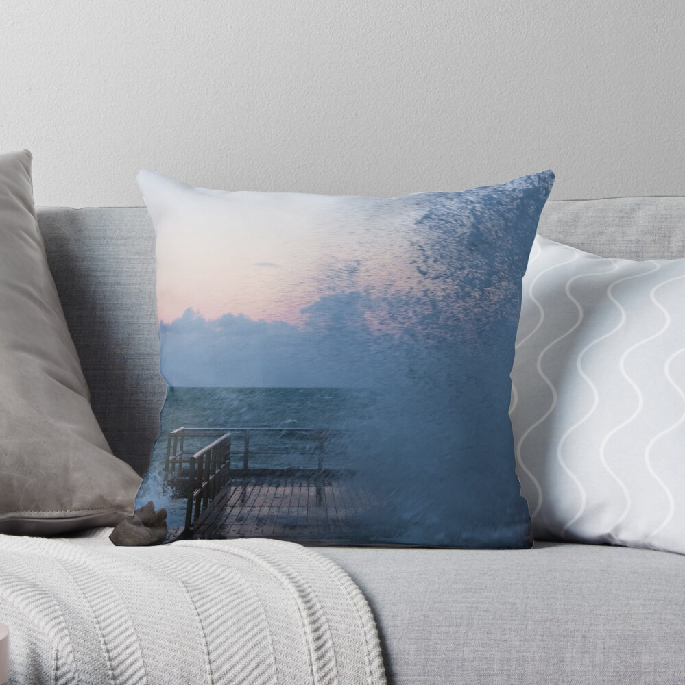 Watch out! You might get wet. Throw Pillow