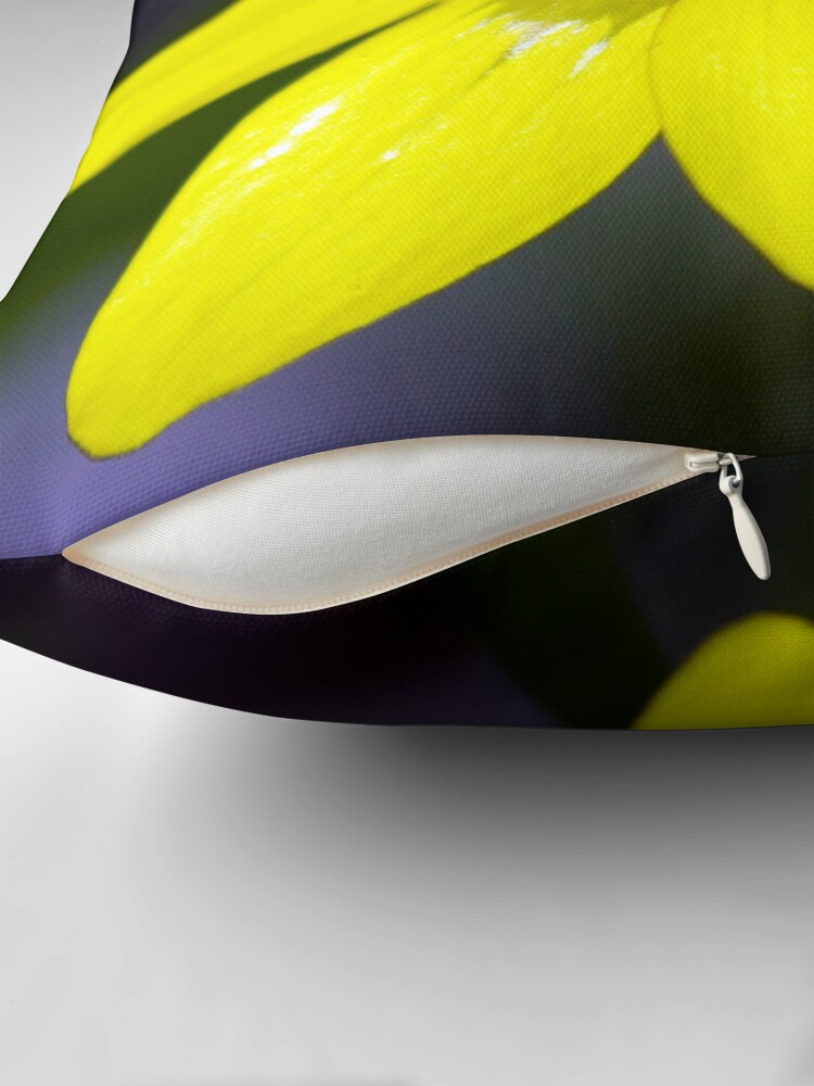 Alternate view of Yellow Celendines Throw Pillow