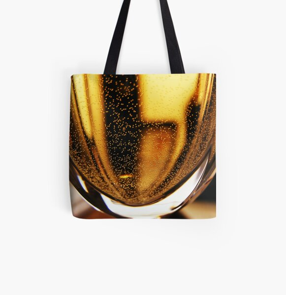 bubbly black and gold All Over Print Tote Bag