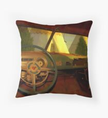 Car Trouble Throw Pillow