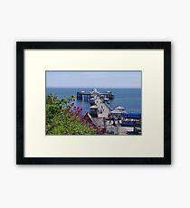 Llandudno Pier Framed Print