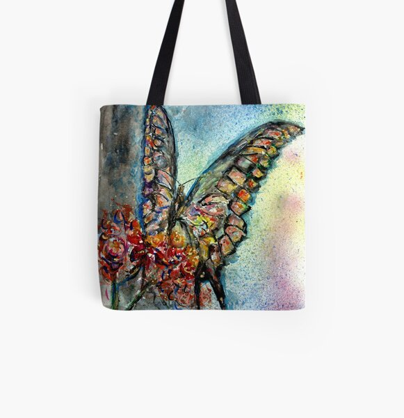 Butterfly All Over Print Tote Bag