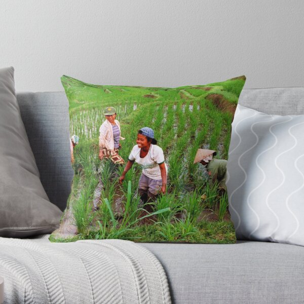 Working With A Smile Throw Pillow