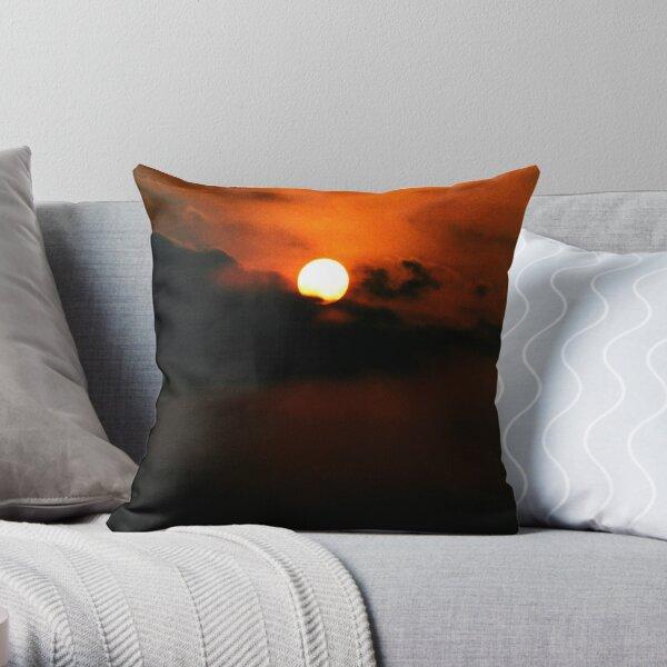 Balinese Sunrise Throw Pillow