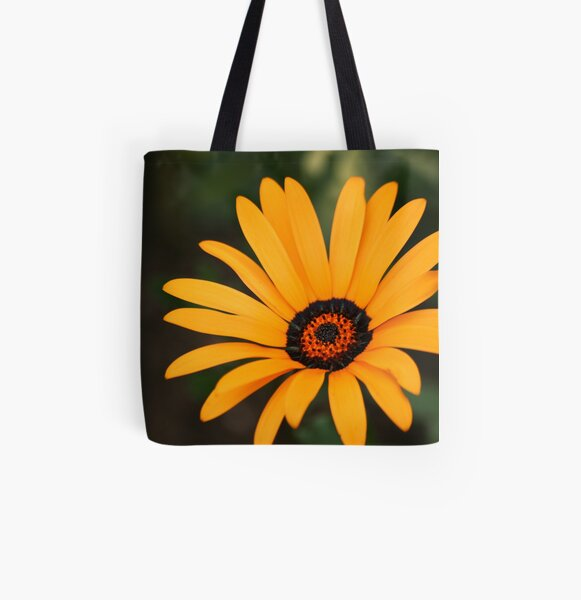 Flower All Over Print Tote Bag