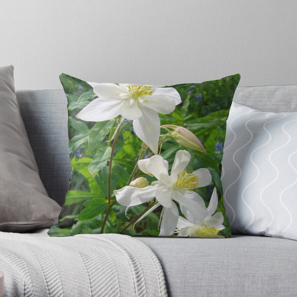 pride in white Throw Pillow
