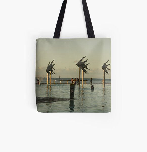 The Esplanade Pool at Sunset All Over Print Tote Bag