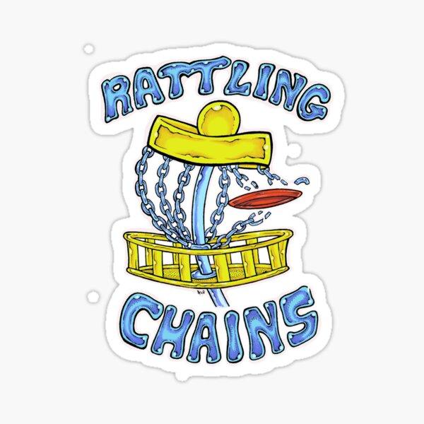 Disc Golf Design: Rattling Chains t shirt and sticker design Sticker