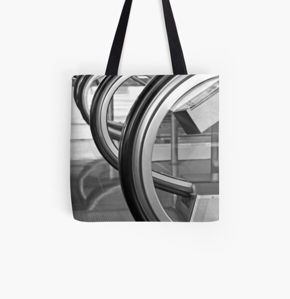 Black Curves All Over Print Tote Bag