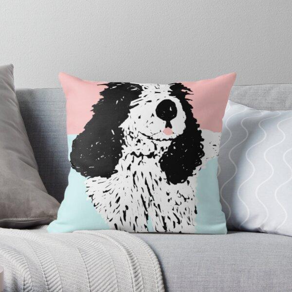 Im watching paint dry Throw Pillow