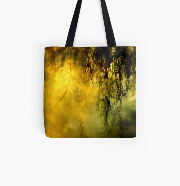Misty Willow All Over Print Tote Bag