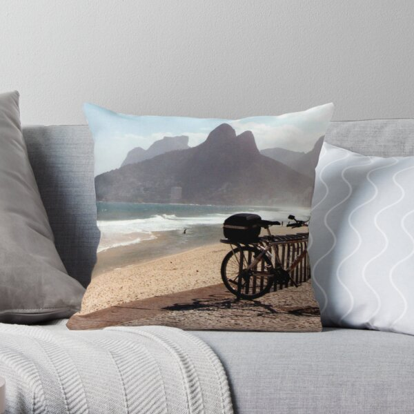 Ipanema Beach Throw Pillow