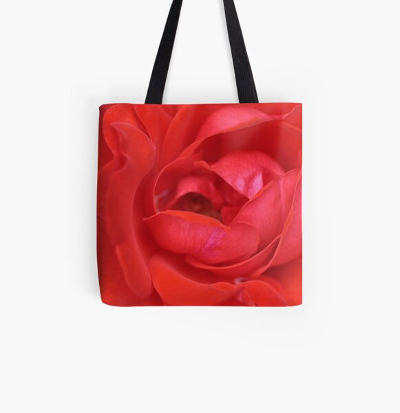 Raggy Red All Over Print Tote Bag