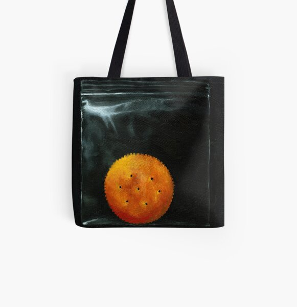 On the Ritz - cracker realism food art All Over Print Tote Bag