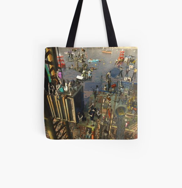 Low tide All Over Print Tote Bag