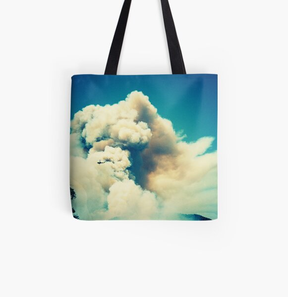 Forest Fire in Provence All Over Print Tote Bag